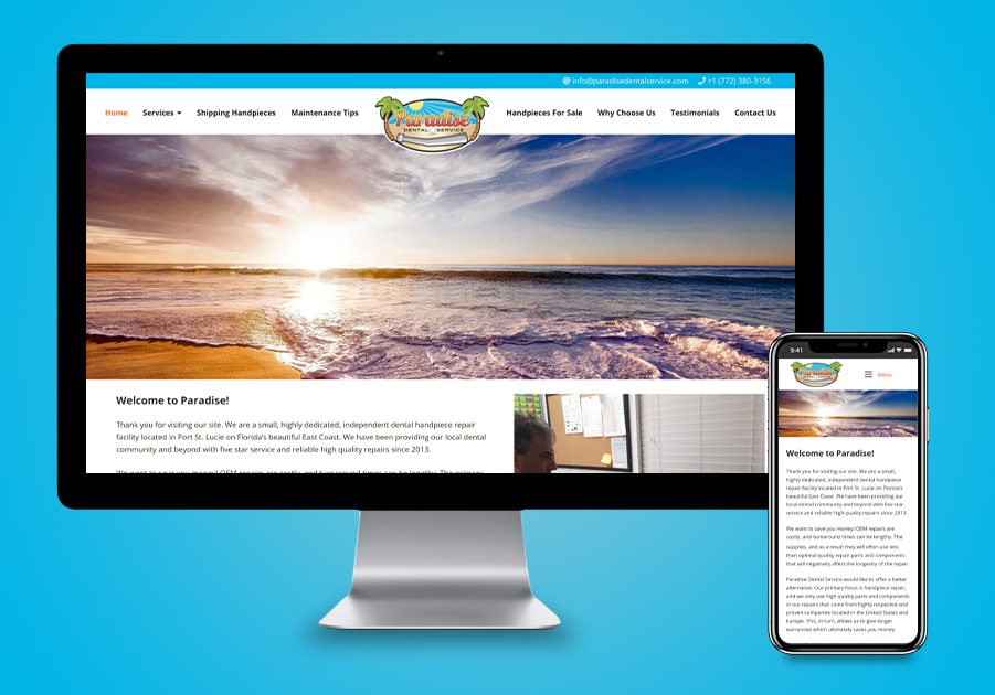 West Palm Website Development - Paradise Dental Service